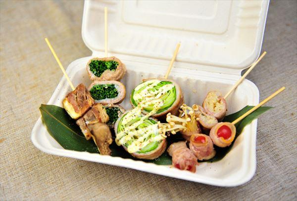 肉巻き野菜串焼5種盛り