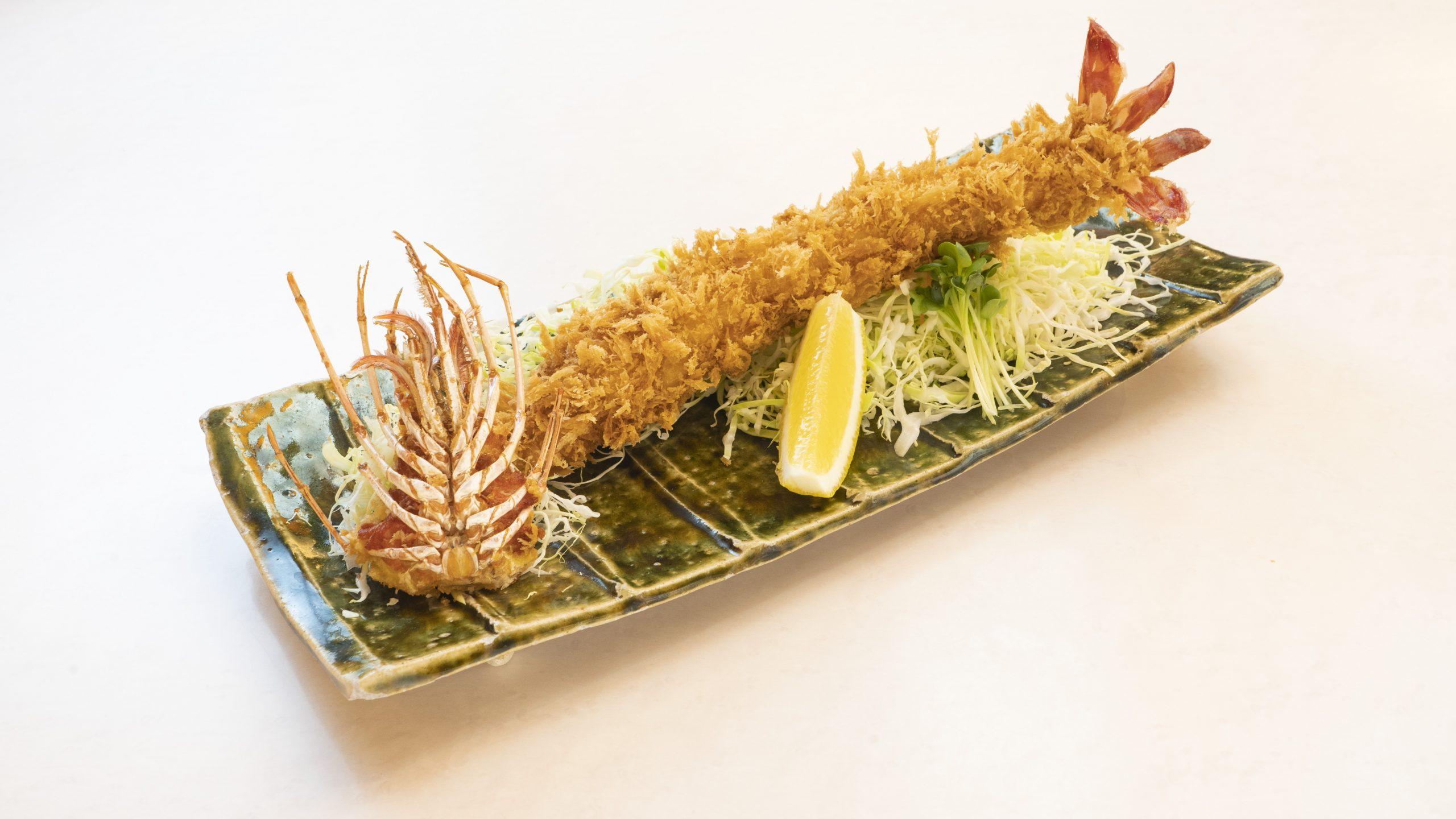 ジャンボエビフライ定食(1本)