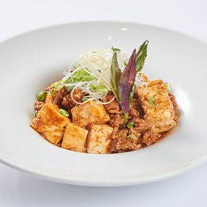 山原島豚あぐー粗挽き肉使用こだわりの赤い麻婆豆腐