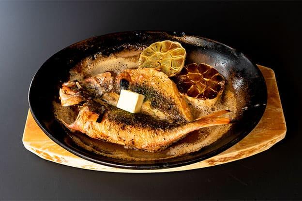 島魚のバター焼きステーキ