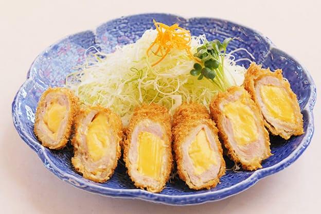チーズチキンロール定食
