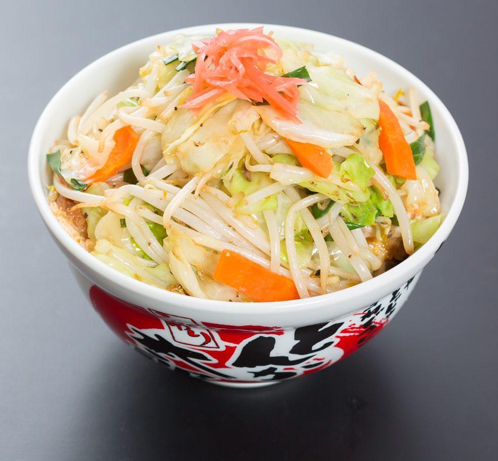 野菜ロースカツ丼