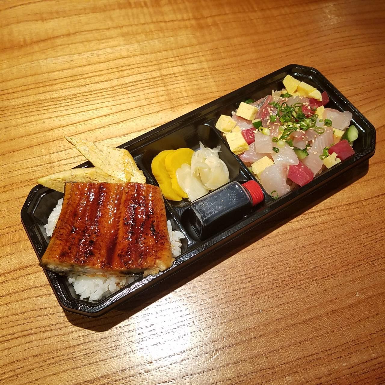 うな重&海鮮ばらちらし寿司贅沢2種弁当
