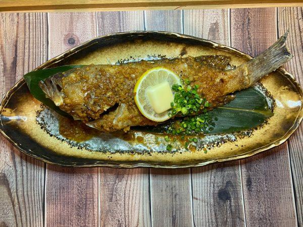 本日鮮魚の1尾バター焼き