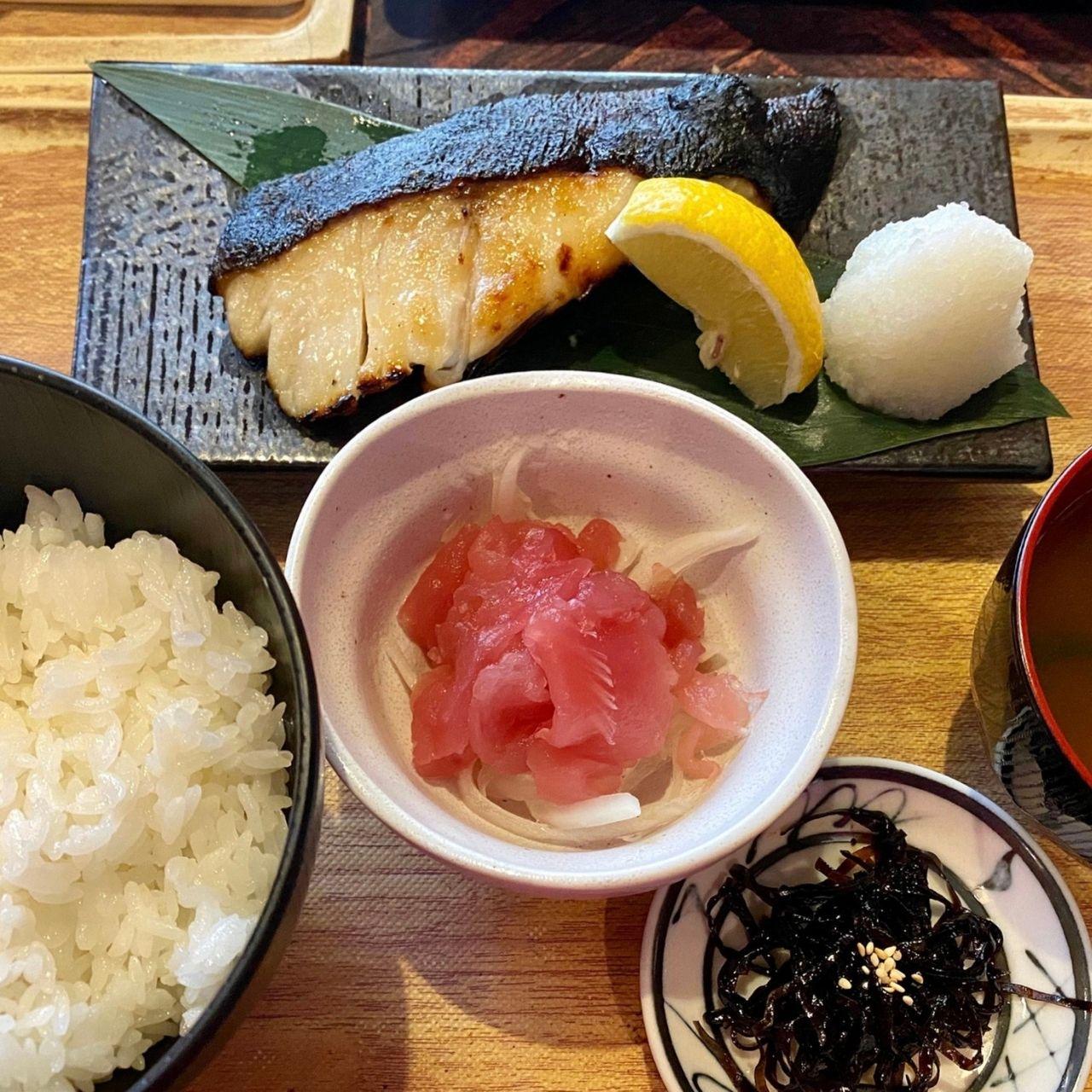 【ランチ限定】厚切り銀鱈の西京味噌焼き定食