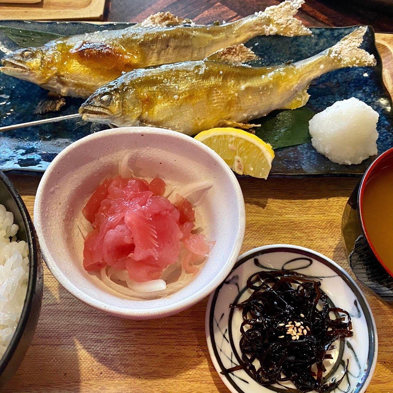 【ランチ限定】清流川登り鮎塩焼き定食(2尾)