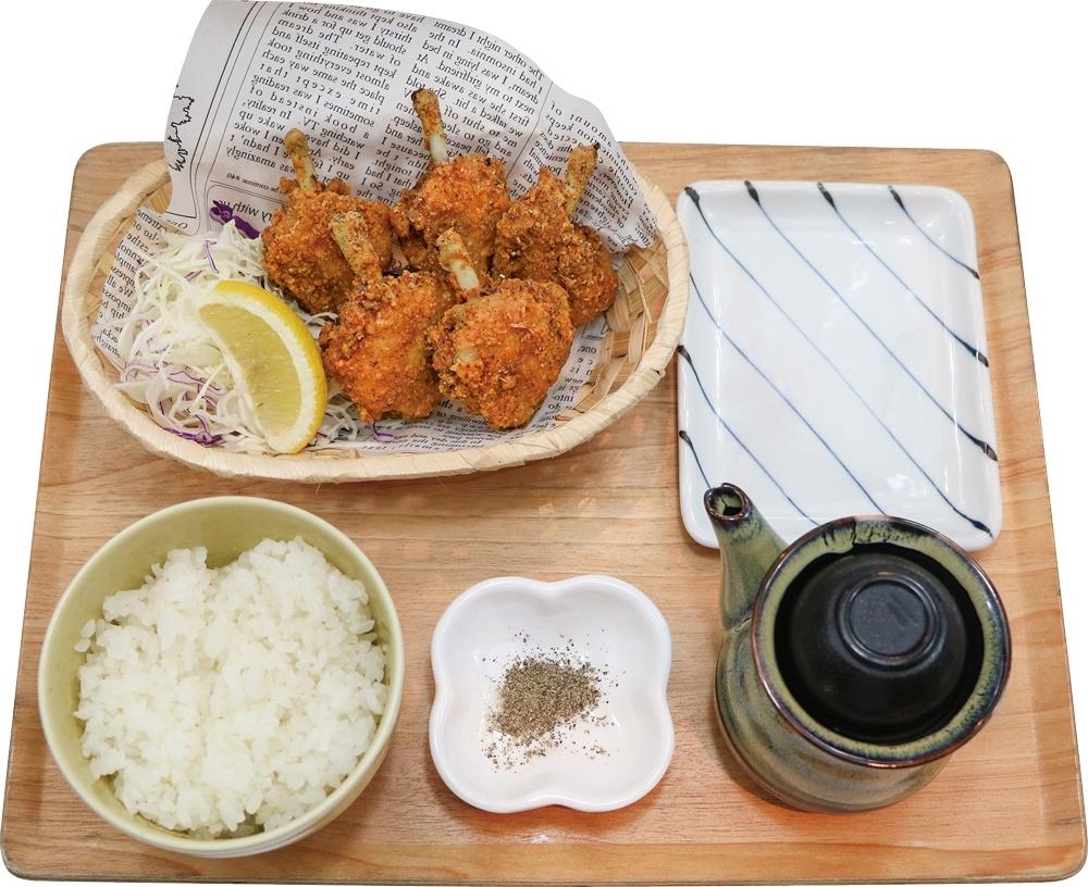 【定食】鳥玉フライドチキン