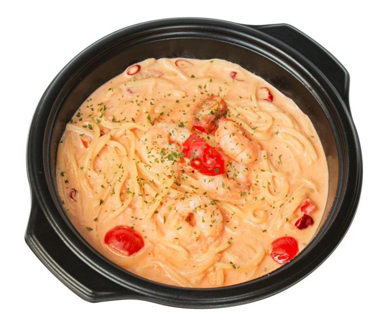 エビのトマトクリームパスタ