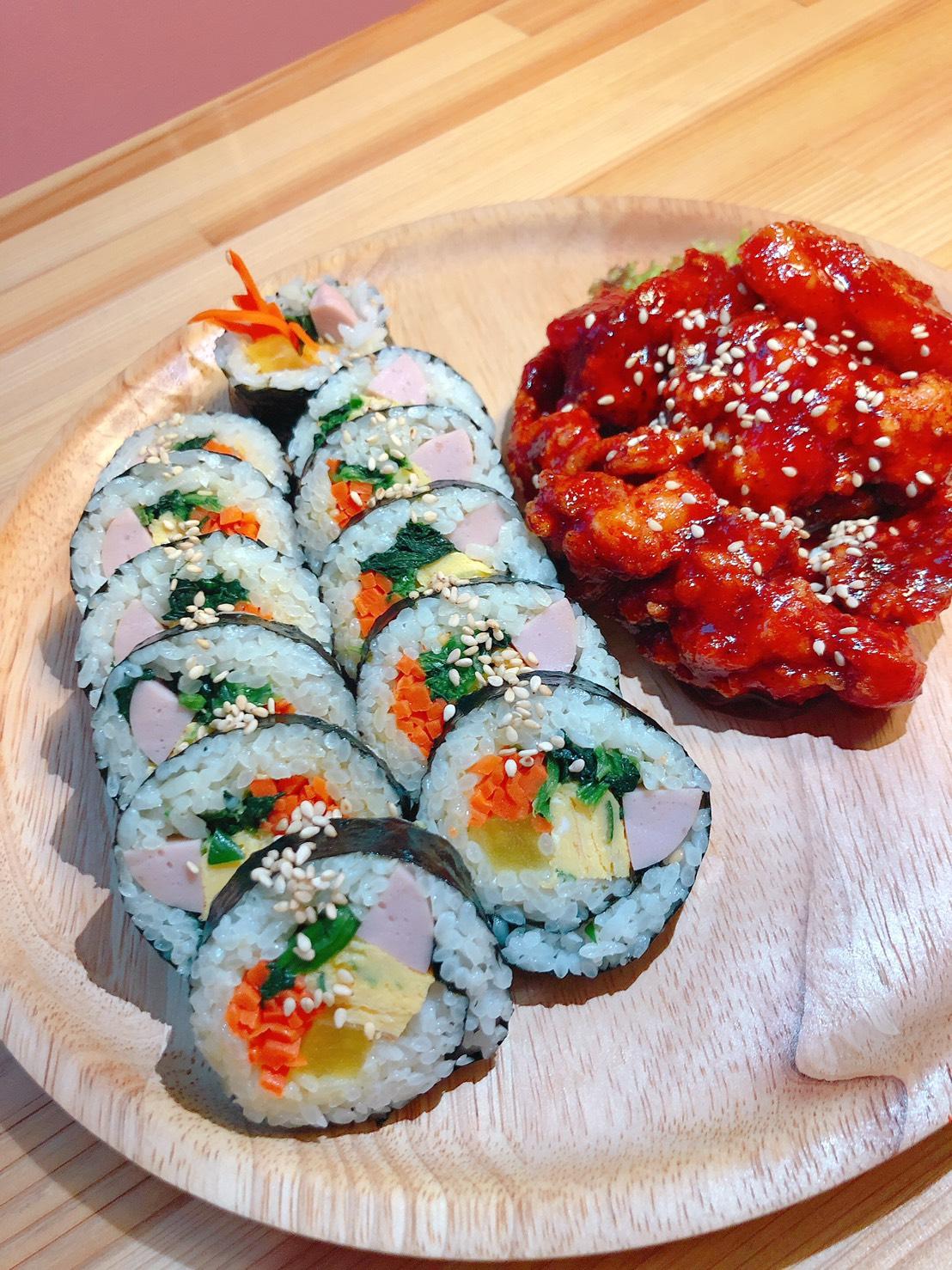 ヤムニョムチキン&キンパセット