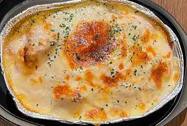 帆立と山芋のチーズグラタン