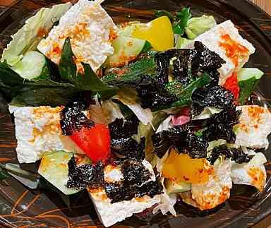 島豆腐のチョレギサラダ