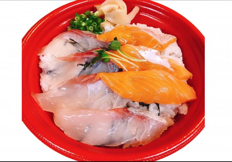 サーモンカンパチ丼